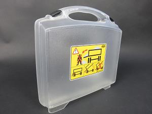 Etikett individuell Kunstoffkoffer transparent